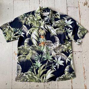 Tommy Bahama Silk Tropical Hawaiian Shirt Size Med